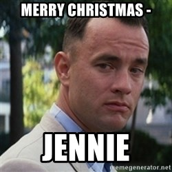 forrest gump - Merry Christmas - Jennie