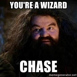 Yer A Wizard Harry Hagrid - You're a wizard  Chase