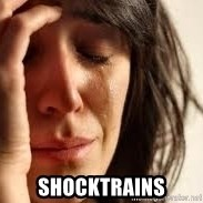 Crying lady - shocktrains