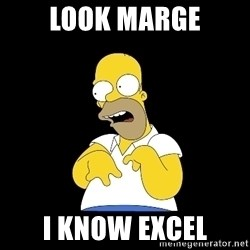 look-marge - Look marge I know excel