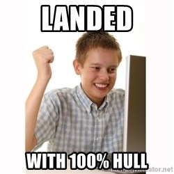 Computer kid - Landed with 100% hull