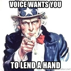 Uncle Sam - Voice wants you to lend a hand