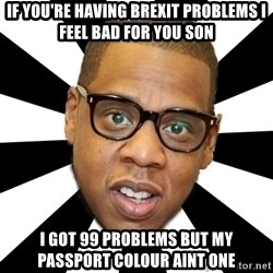 JayZ 99 Problems - If you're having brexit problems I feel bad for you son I got 99 problems but my passport colour aint one