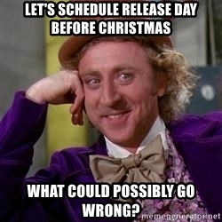 WillyWonka - let's schedule release day before Christmas what could possibly go wrong?