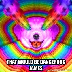 Final Advice Dog - that would be dangerous james