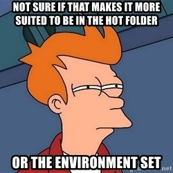 Futurama Fry - not sure if that makes it more suited to be in the hot folder or the environment set