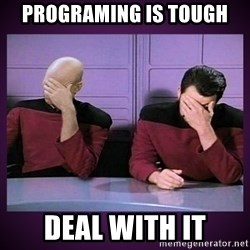 Double Facepalm - programing is tough deal with it
