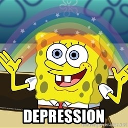 spongebob rainbow - DEPRESSION