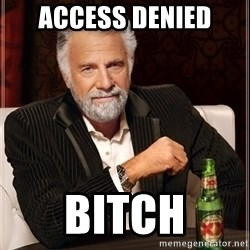 The Most Interesting Man In The World - Access Denied Bitch
