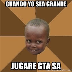 Homeless Haitian Child - Cuando yo sea grande jugare Gta Sa