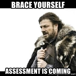 Winter is Coming - Brace Yourself Assessment is coming