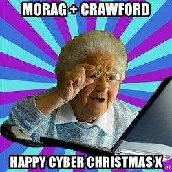 old lady - Morag + Crawford Happy cyber Christmas x
