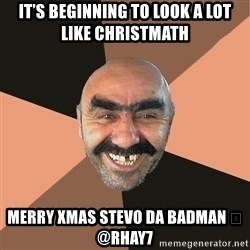 Provincial Man - It's beginning to look a lot like Christmath Merry Xmas Stevo da Badman 😎 @rhay7