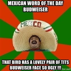 Successful Mexican - Mexican word of the day budweiser that bird has a lovely pair of tits budweiser face so ugly !!!