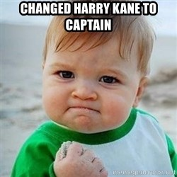 Victory Baby - Changed Harry Kane to captain