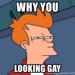 Futurama Fry - why you  looking gay