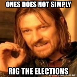 ODN - Ones does not simply rig the elections