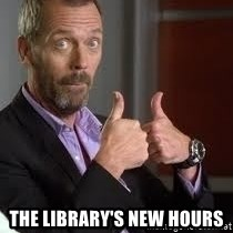 cool story bro house - The library's new hours