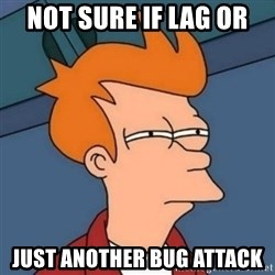 Not sure if troll - not sure if lag or just another bug attack