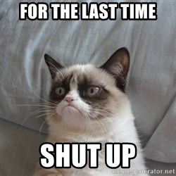 Grumpy cat good - for the last time shut up