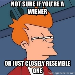 Futurama Fry - Not sure if you're a wiener or just closely resemble one