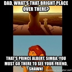 Lion King Shadowy Place - Dad, what's that bright place over there? that's prince albert, simba, you must go there to see your friend, Shawn!