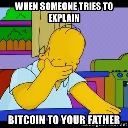 Homer Facepalm - When someone tries to explain Bitcoin to your father