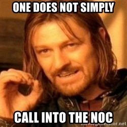 ODN - one does not simply call into the noc