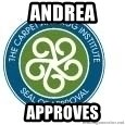 Seal Of Approval - Andrea approves