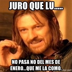 One Does Not Simply - Juro que Lu..... No pasa no del mes de enero...que me la como.