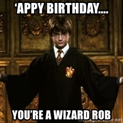 Harry Potter Come At Me Bro - 'appy birthday.... you're a wizard Rob