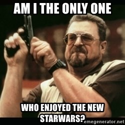am i the only one around here - Am I the only one  Who enjoyed the new starwars?