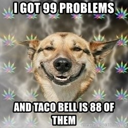Stoner Dog - I got 99 problems And taco bell is 88 of them