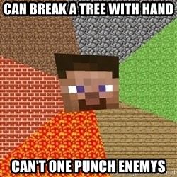 Minecraft Guy - can break a tree with hand can't one punch Enemys