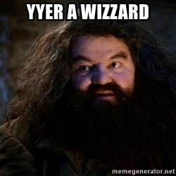 Yer A Wizard Harry Hagrid - YYer a wizzard