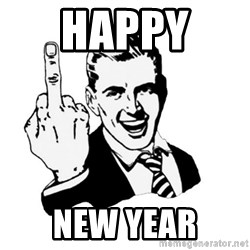 middle finger - Happy  New Year