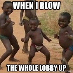 african children dancing - When i blow  the whole lobby up