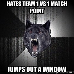Insanity Wolf - Hates team 1 vs 1 match point Jumps out a window
