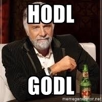 I don't always guy meme - hodl godl