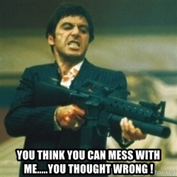 Tony Montana - You think you can mess with me.....You thought wrong !