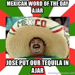 Sombrero Mexican - mexican word of the day ajar jose put our tequila in ajar