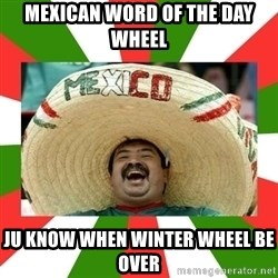 Sombrero Mexican - mexican word of the day wheel ju know when winter wheel be over