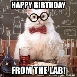 Chemistry Cat - Happy birthday from the lab!
