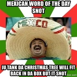 Sombrero Mexican - mexican word of the day snot ju tank da christmas tree will fit back in da box but it snot