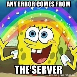 Imagination - any error comes from the server
