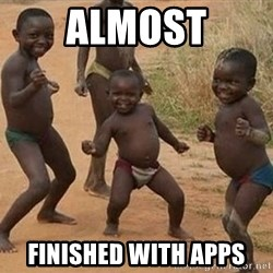 Dancing african boy - Almost Finished with apps