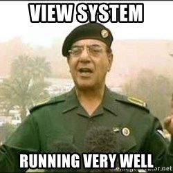 Iraqi Information Minister - VIEW SYSTEM  RUNNING VERY WELL