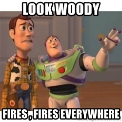 Toy story - Look Woody  Fires , fires everywhere