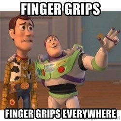 Toy story - finger grips finger grips everywhere