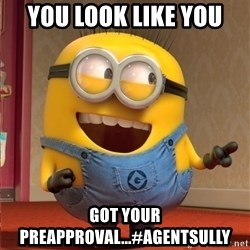 dave le minion - You look like you  got your preapproval...#agentsully